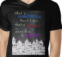 What a treacherous thing to believe Mens V-Neck T-Shirt