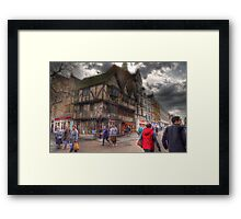 High Street - Oxford Framed Print