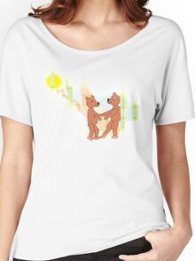 Larravide Dancing Bears  Women's Relaxed Fit T-Shirt