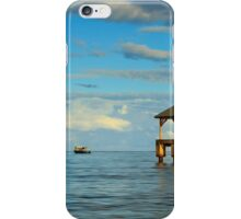 Morning Light On The Hanalei Pier iPhone Case/Skin