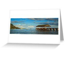 Morning Light On The Hanalei Pier Greeting Card