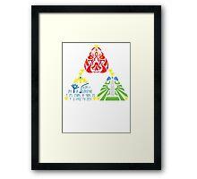 Triforce (without sage emblems) Framed Print