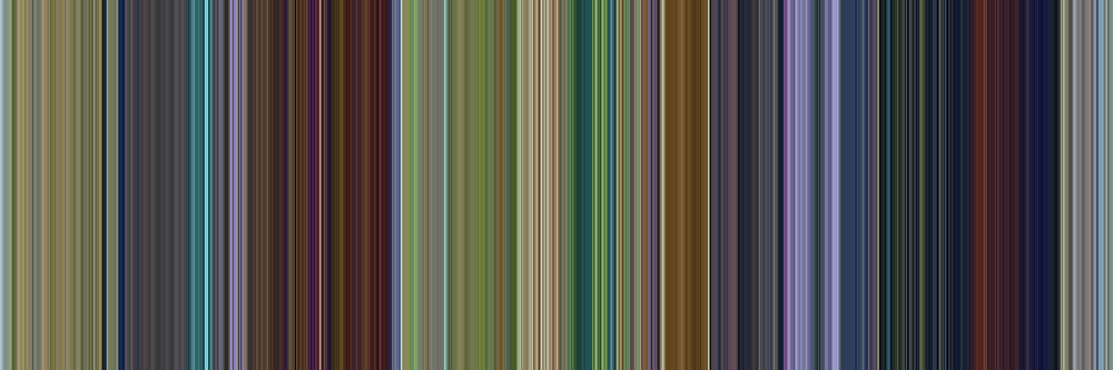 Moviebarcode: A Bug's Life (1998) [Simplified Colors] by moviebarcode