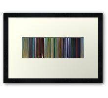 Moviebarcode: A Bug's Life (1998) Framed Print
