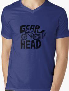 Gearhead -  black   Mens V-Neck T-Shirt