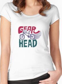 Gearhead - colored Women's Fitted Scoop T-Shirt