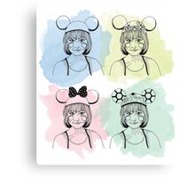 Mouse Ears Mickey Canvas Print