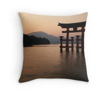 Floating Torii Throw Pillow