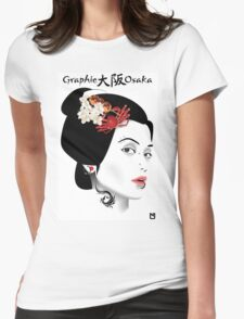 Graphic Osaka Womens Fitted T-Shirt