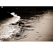 Abstract Ice on the Rappahannock River - 5  Photographic Print