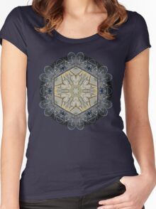 BICYCLE WITH GOLD BRANCHES II MANDALA Women's Fitted Scoop T-Shirt