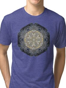 BICYCLE WITH GOLD BRANCHES II MANDALA Tri-blend T-Shirt