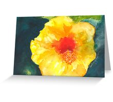 Hibiscus Dressed in Yellow Greeting Card