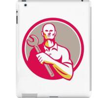 Mechanic Holding Wrench Circle Retro iPad Case/Skin