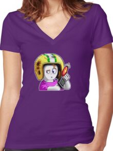Commander Keen Women's Fitted V-Neck T-Shirt