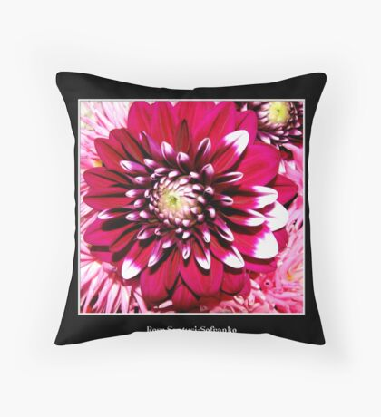 Gorgeous Red Flower Throw Pillow