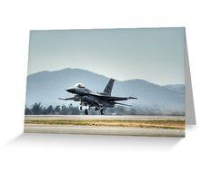 F16 (Moody Takeoff) Greeting Card