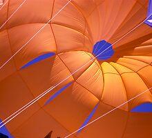 Orange parachute by richard  webb