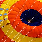 Red and Yellow parachute  by richard  webb