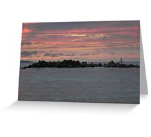 Post Sunset Red Sky Montego Bay Greeting Card