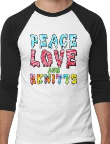 Peace Love and BKnitts Men's Baseball ¾ T-Shirt