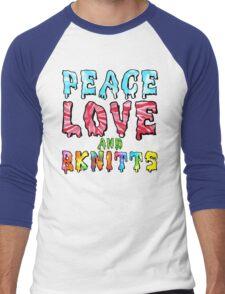 Peace Love and BKnitts Men's Baseball ¾ T-Shirt