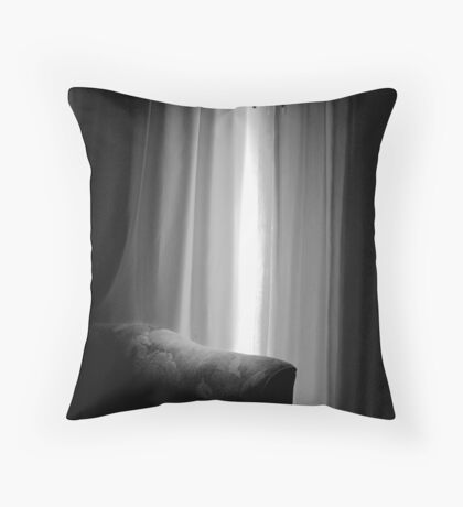 Hotel Room Window Throw Pillow