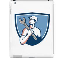 Tradesman Mechanic Spanner Crest Retro iPad Case/Skin