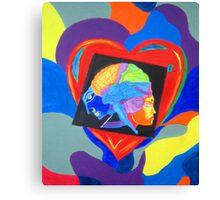 Head vs Heart. Canvas Print