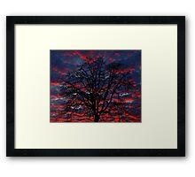 Lake Oswego Sunset Framed Print