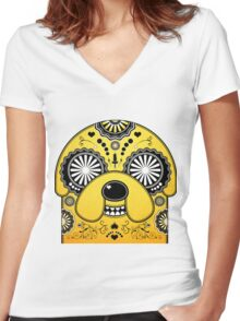Adventure Time Jake Women's Fitted V-Neck T-Shirt