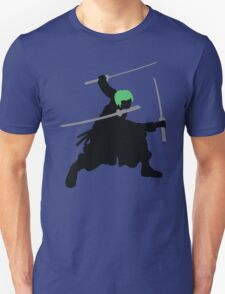 Zoro with Swords Silhouette (Green Hair Pirate) T-Shirt