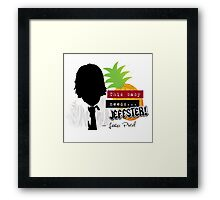 """Lester—""""This baby needs...JEFFSTER!"""" (Chuck TV Show) Framed Print"""
