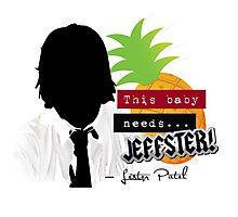 "Lester—""This baby needs...JEFFSTER!"" (Chuck TV Show) Photographic Print"