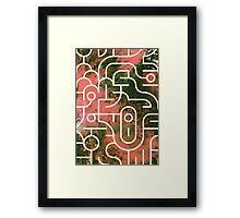 Geometry and Colors XII Framed Print