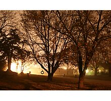 Foggy Midnight in a Small Town Photographic Print