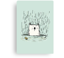 Overwhelmed Cat Canvas Print
