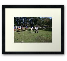 Okuku PC rally at Gracebrook (1275) Framed Print