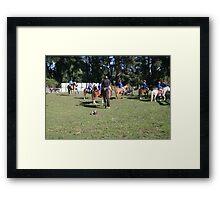 Okuku PC rally at Gracebrook (1276) Framed Print