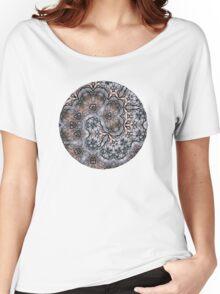 Sunset Branches – Spiral Mandala Women's Relaxed Fit T-Shirt