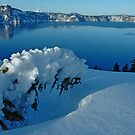 Crater Lake Winter Landscape 3 by Nick Boren