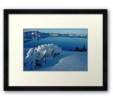 Crater Lake Winter Landscape 3 Framed Print