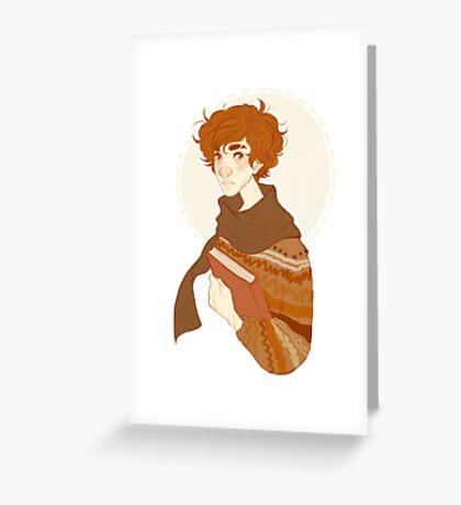 moony Greeting Card