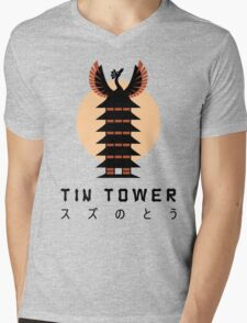 Tin Tower Mens V-Neck T-Shirt
