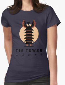 Tin Tower Womens Fitted T-Shirt