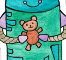 Robot with Teddy Bear Sticker