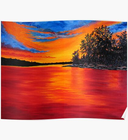 Sunset Glory Poster
