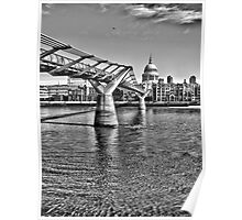 The Millennium Bridge in HDR Poster