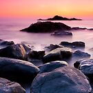 The Om beach by Dinni H