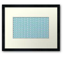Brazilian Jiu Jitsu Blue Framed Print